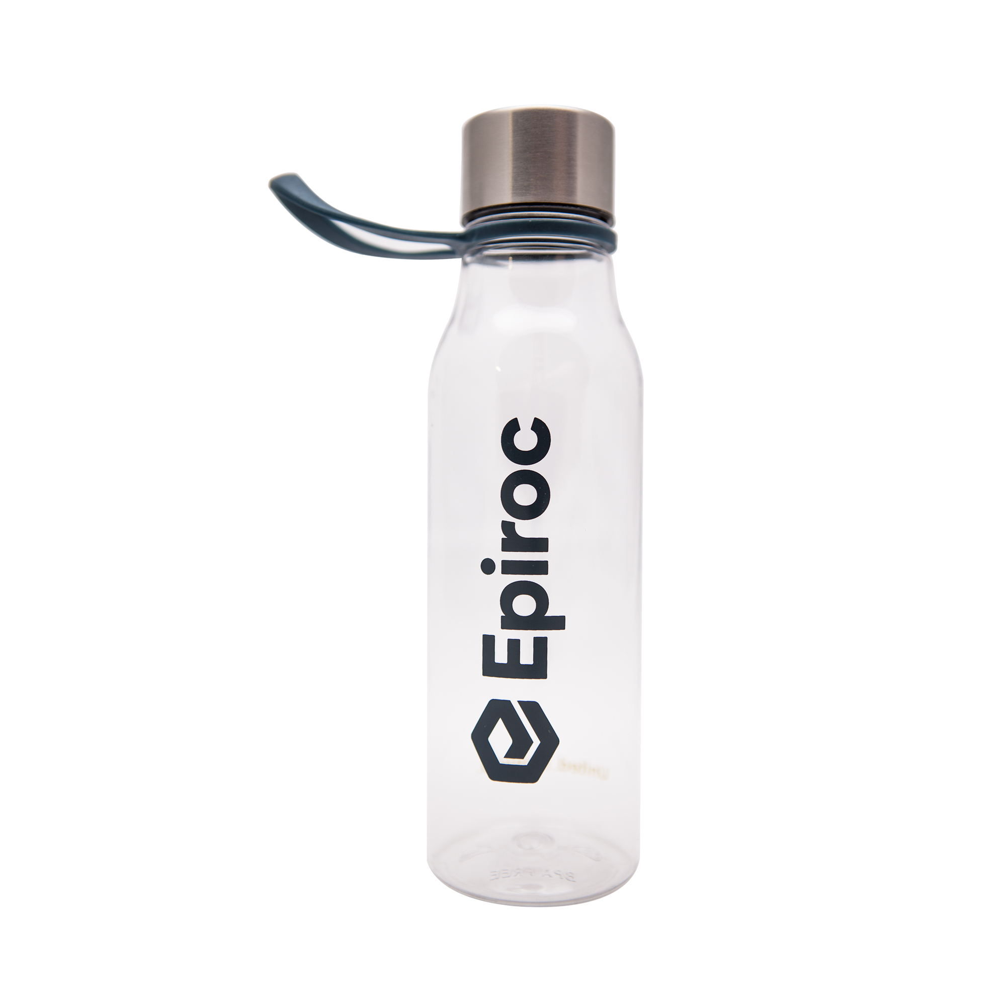 Water bottle in BPA-free tritan. The loop makes it easy to hang or carry the bottle.  Perfect for the office desk or on the go.