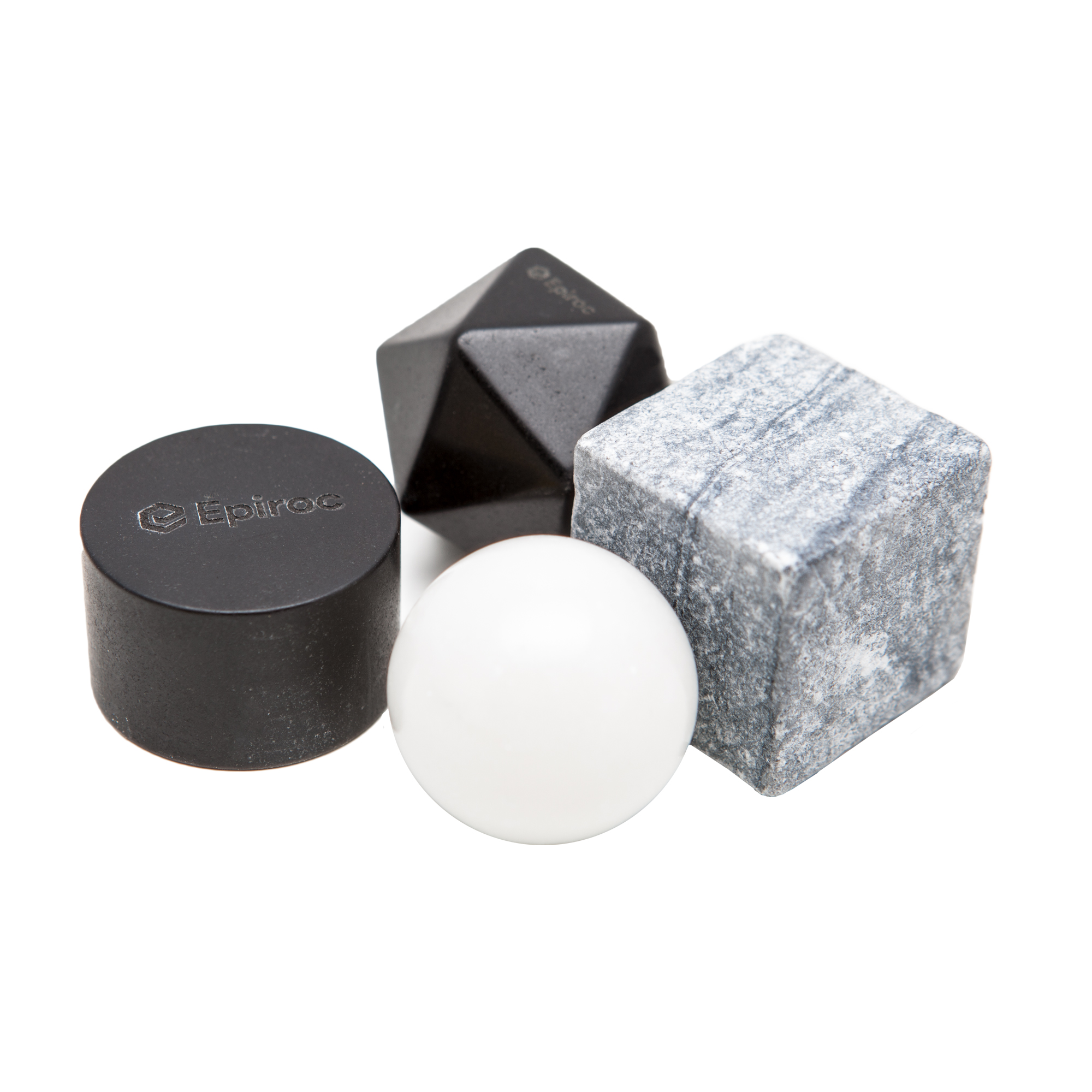 When you want to chill a drink without diluting it, chilling stones are perfect. These Epiroc Chilling Stones look great and work great. An interesting gift for teams, customers and suppliers, in a branded Epiroc box.
