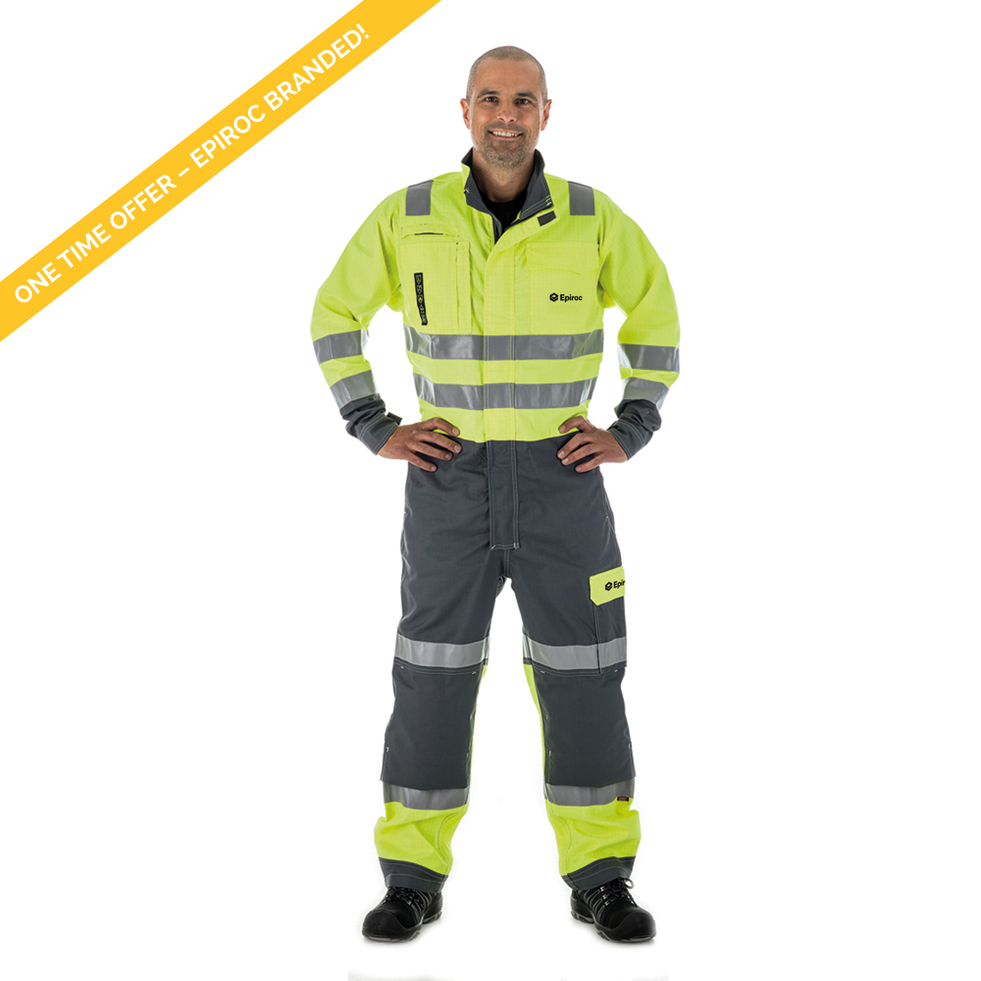 <p>Coverall which offers protection from heat and flame, from molten metal splashes, and from heat of an electric arc; it is anti-static and performs in environments where high day light visibility is required. The Coverall has several functional pockets to facilitate on daily basis. Coveralls can be lengthened with 5 cm.</p>
