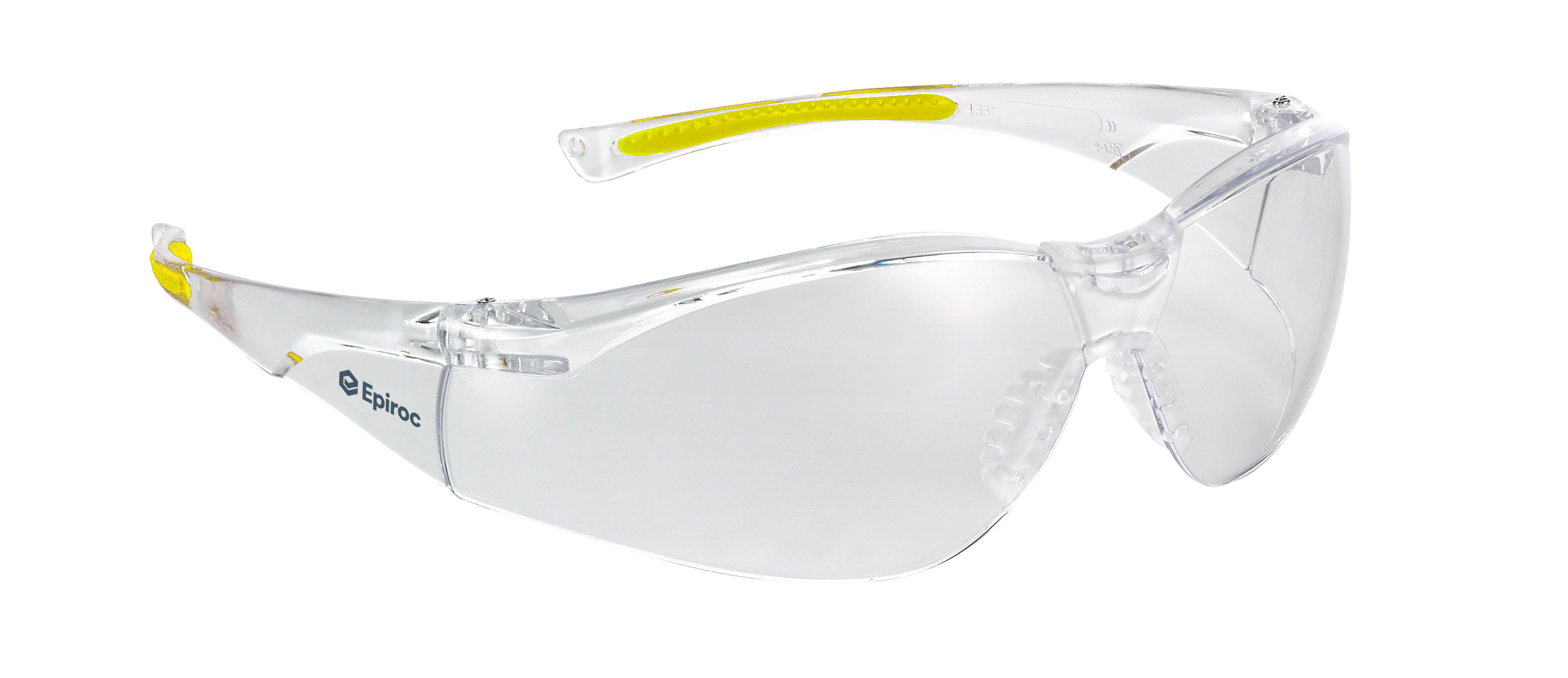 This safety eyewear is designed to offer the best possible protection and has been checked aesthetically and for proper fit to allow Epirocs operators to work in complete harmony with the eyewear. The eyewear is made from PC and non-allergic rubber, with a non-slip rubber nose pad and eyebrow protection. This safety eyewear meets the requirements of EN 166 EN166 EN 170 EN166 ANSI Z87.1 EN166