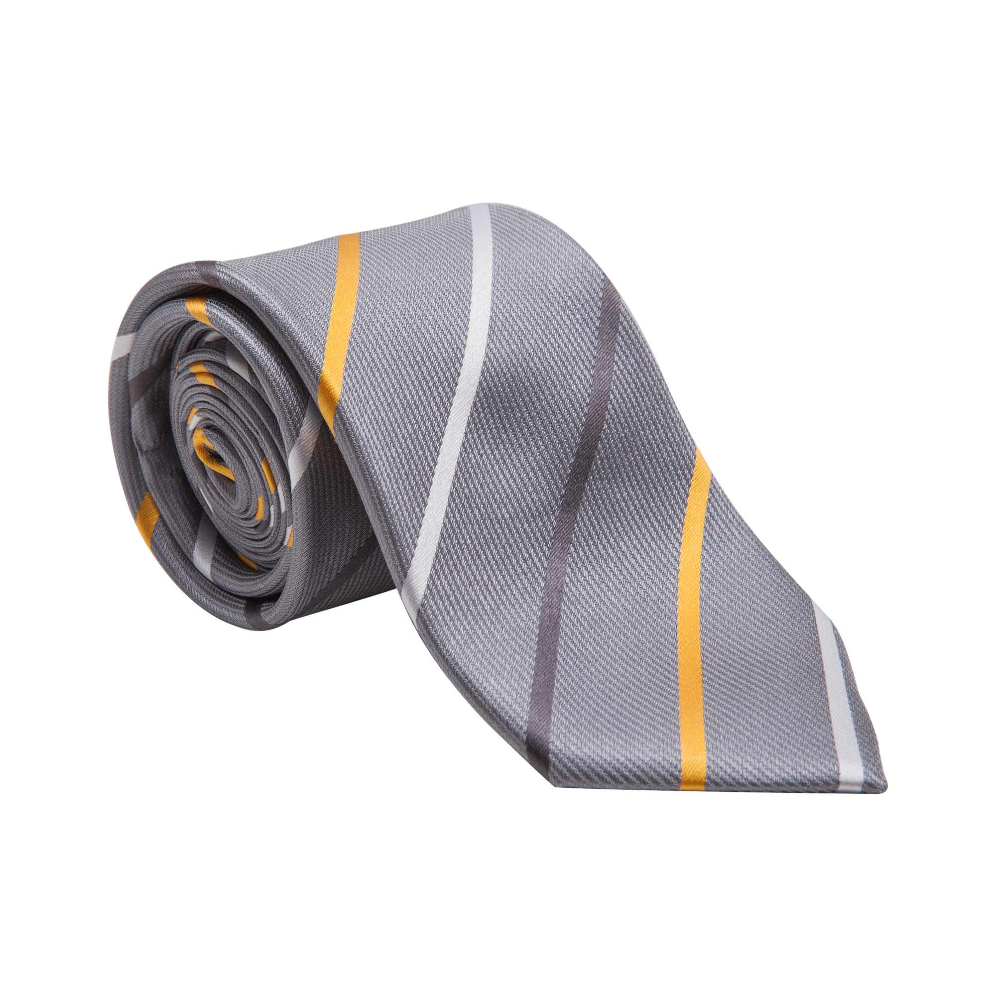 "A stylish woven silk tie. Perfect for fairs and exhibitions when you want to express a ""one company spirit""."