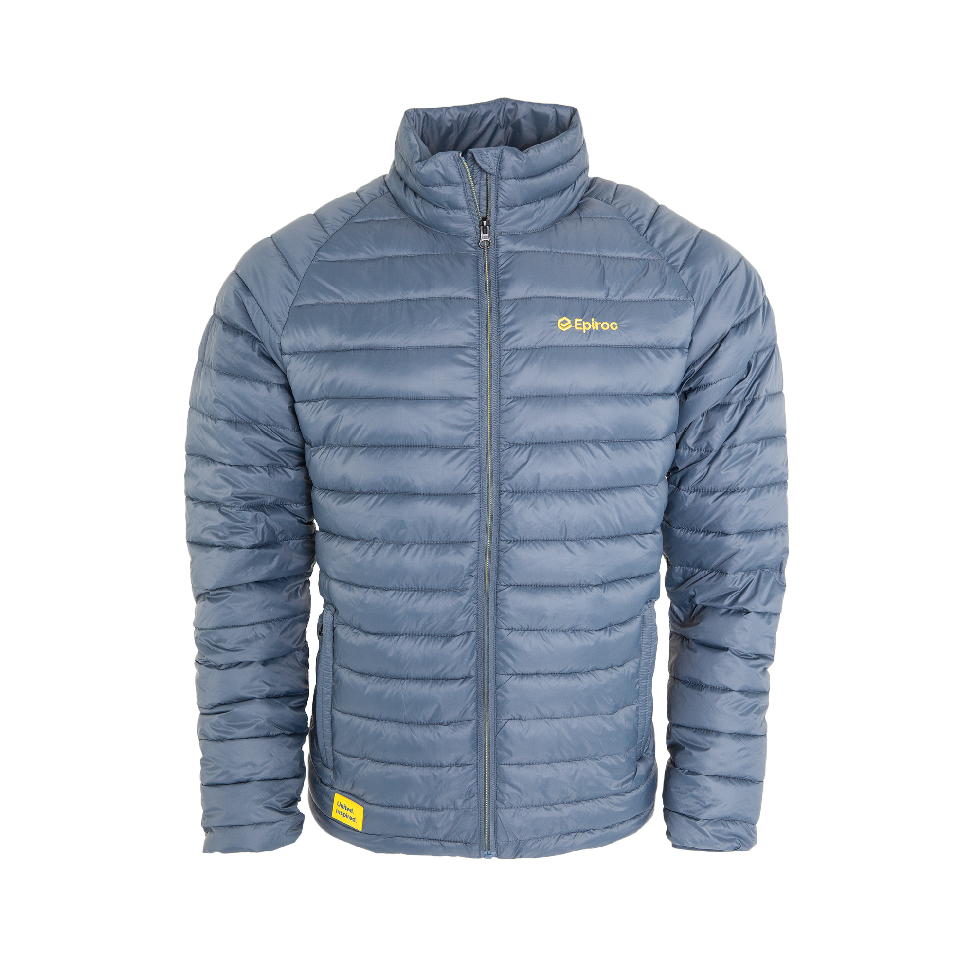 Nice light padded jacket. Wind and water repellent. Two side pockets with zipper.